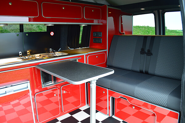 Red gloss campervan
