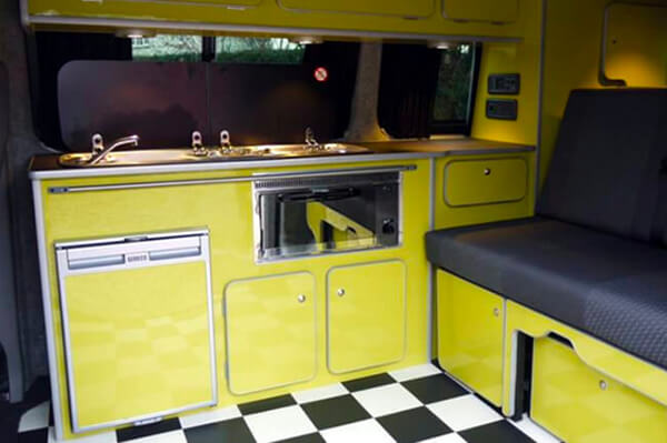 Yellow gloss campervan